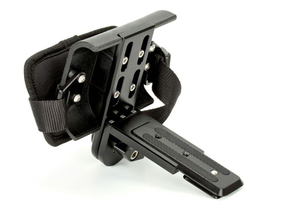 ROKO Camcorder Griff für DSLR von vorne.