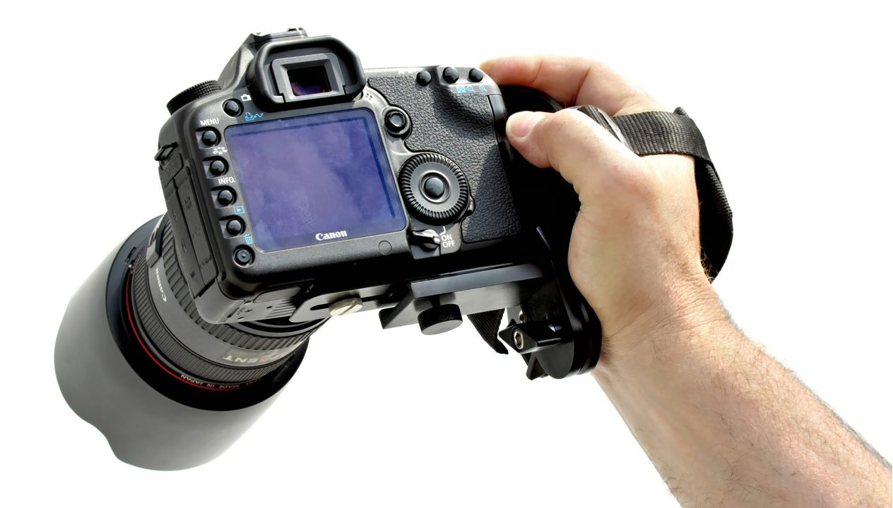 Canon 5D Mark II mit verstellbarem Griff.