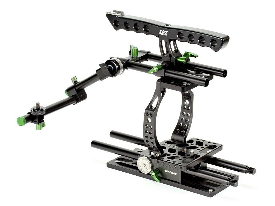 Lanparte BMCC-01 Cage / Kamerakäfig für BMCC + MA-02 Magic Arm für EVF.