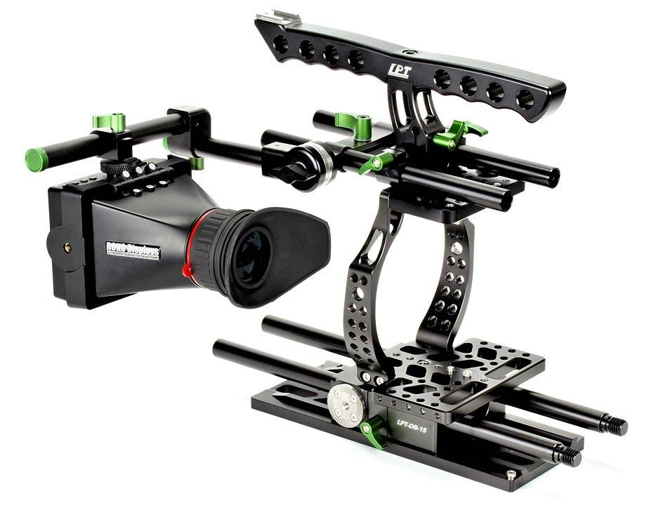 Lanparte BMCC-01 Cage / Kamerakäfig für BMCC + MA-02 Magic Arm für EVF Foto Nr. 2