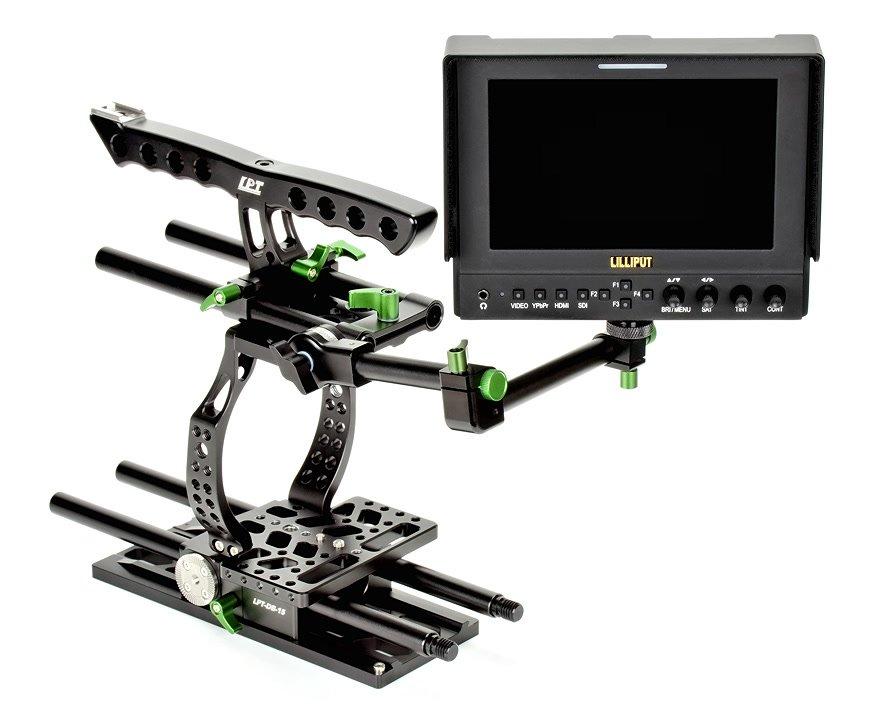Lanparte BMCC-01 Cage / Kamerakäfig für BMCC + MA-02 Magic Arm für EVF Foto Nr. 3
