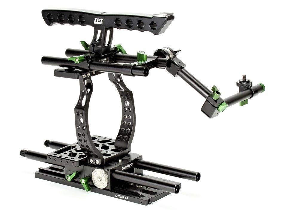 Lanparte BMCC-01 Cage / Kamerakäfig für BMCC + MA-02 Magic Arm für EVF Foto Nr. 4