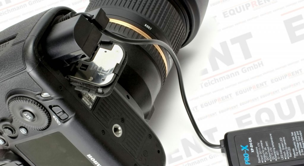 Pro-X XP-DV-CH Spannungswandler 12V/D-Tap mit Canon LP-E6 Akkudummy Foto Nr. 5