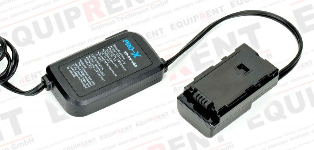 Pro-X XP-DV-VBG Spannungswandler 12V/D-Tap zu Panasonic HMC Camcorder.