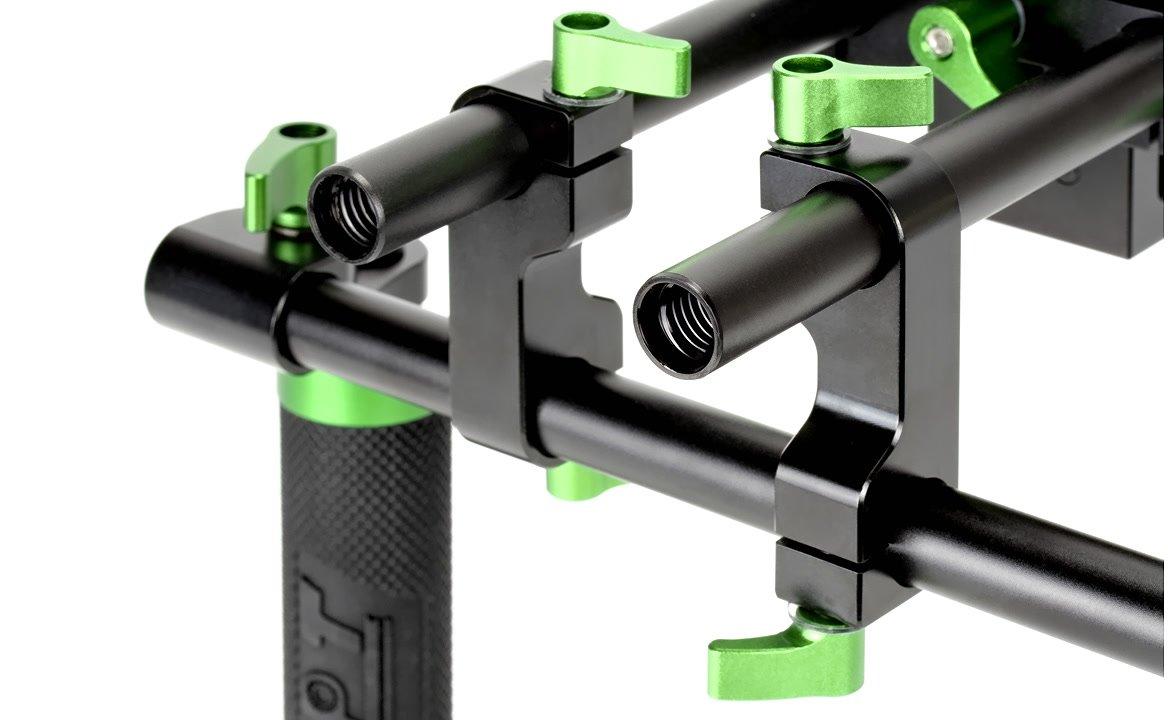 Der Adapter ist auf allen 15mm Rods befestigbar.