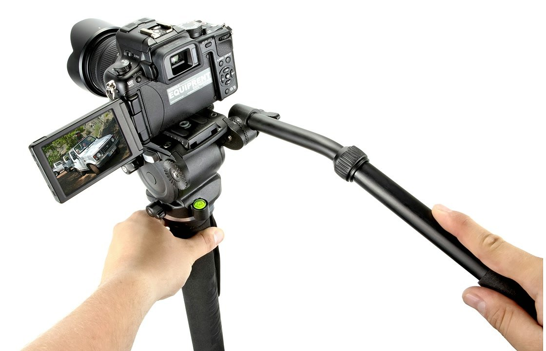 Panasonic GH2 mit E-IMAGE MA70 Monopod.