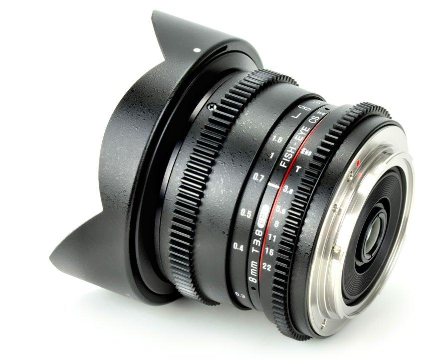 Samyang 8mm / t3.8 VDSLR Fisheye CS II Objektiv (Canon EF-S) Foto Nr. 1