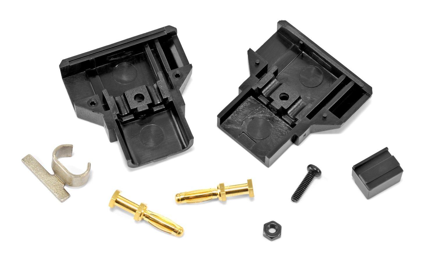 Einzelteile ROKO D-Tap Stecker Bausatz.