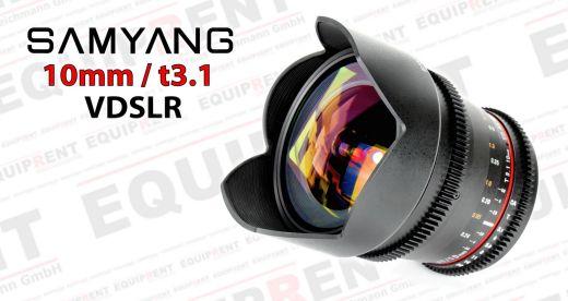 Samyang 10mm t3.1 Weitwinkel für VDSLR