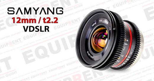 Samyang 12mm t2.2 Weitwinkel für VDSLR