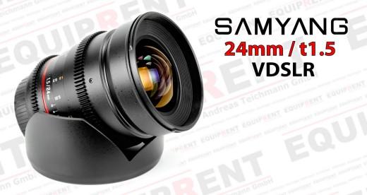 Samyang 24mm t1.5 Weitwinkel für VDSLR