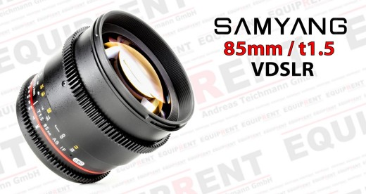 Samyang 85mm t1.5 Portraitobjektiv für VDSLR